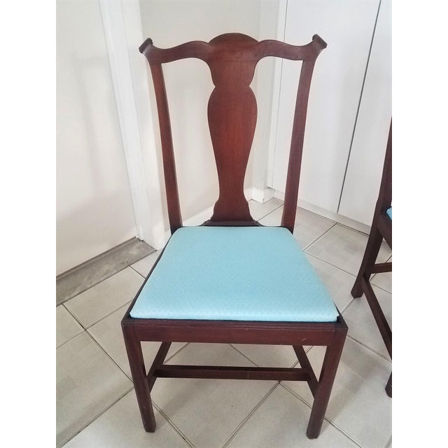 Chippendale Mid-Century Chippendale Style Mahogany Dining Chairs - Set of 4 For Sale - Image 3 of 6