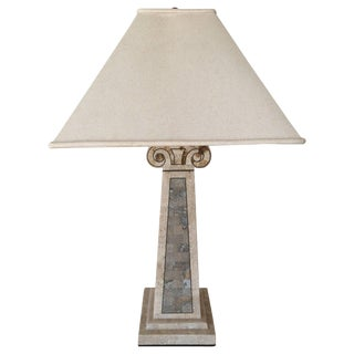 Maitland-Smith Tessellated Marble Lamp For Sale
