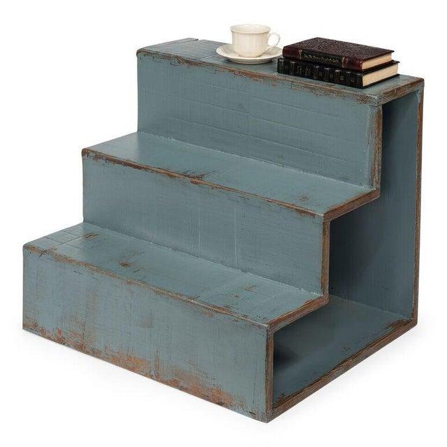 Sarreid Ltd Pale Blue Step Side Table - Image 5 of 5