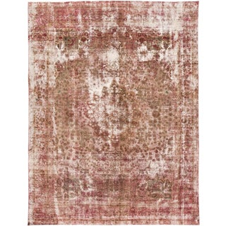 """Vintage Persian Distressed Rug, 9'7"""" X 12'10"""" For Sale"""