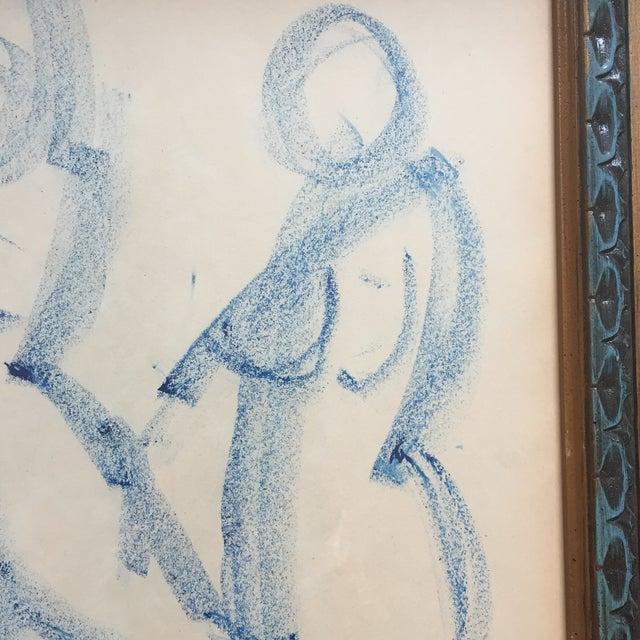 Original Vintage Modernist Female Nude Drawing For Sale - Image 4 of 6