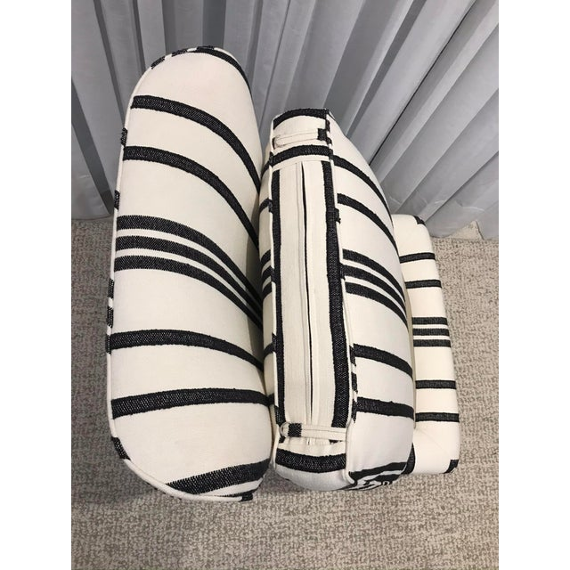 2010s Barbara Barry Armless Chair with Schumacher Stripe Fabric For Sale - Image 5 of 13