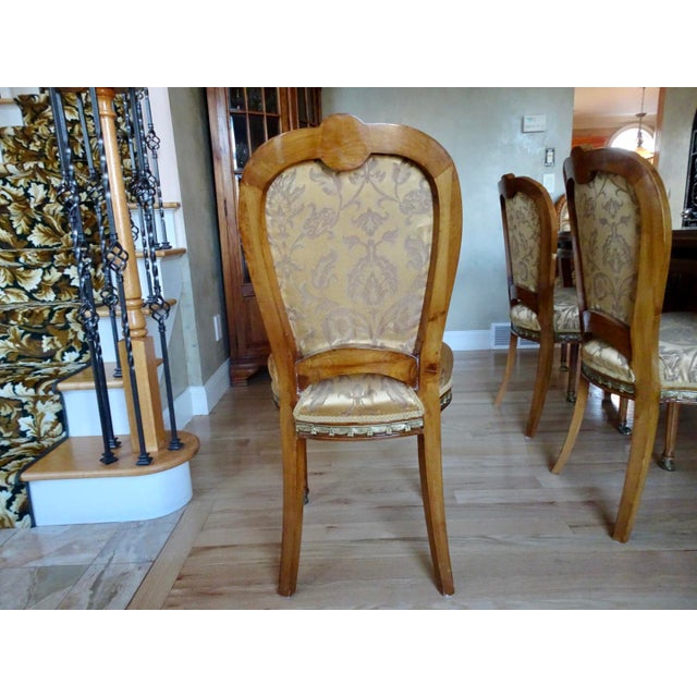 Extra Large Italian Baroque Style Solid Wood Dining Set - 9 Pieces For Sale In New York - Image 6 of 12