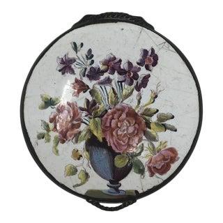 18th Century Bilston Enamel Floral Box For Sale