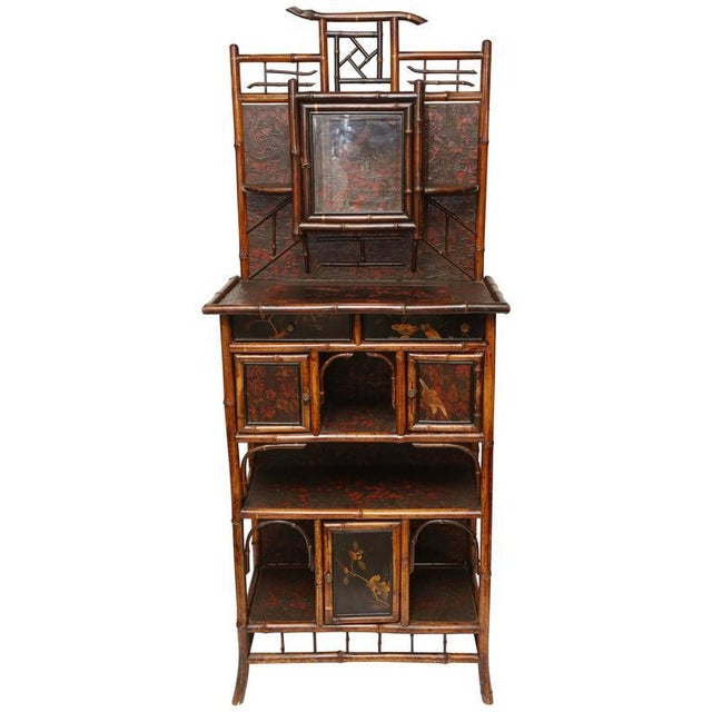 English 19th Century English Bamboo Cabinet For Sale - Image 9 of 9
