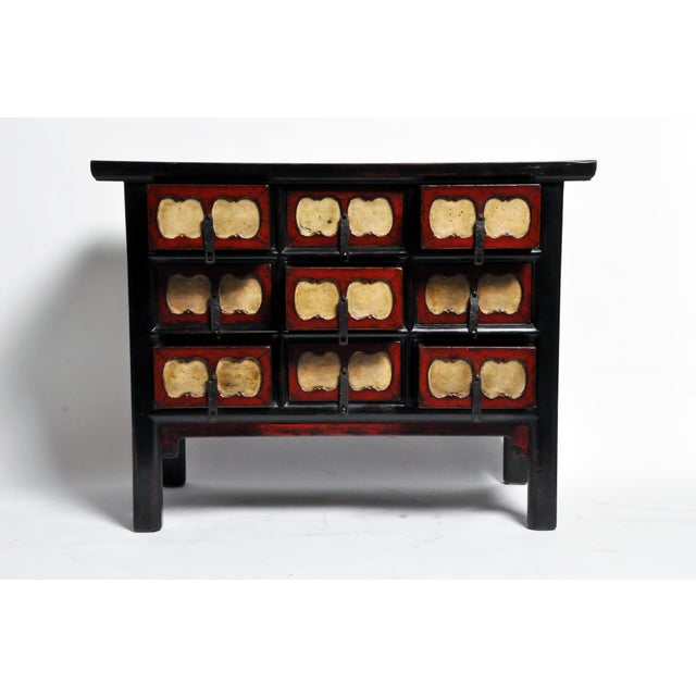 2010s Chinese Side Chest with Nine Drawers For Sale - Image 5 of 13