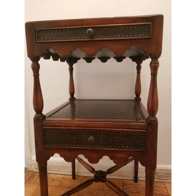 2010s Asian Antique Theodore Alexander Side Table For Sale - Image 5 of 8