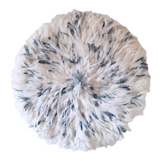 African Gray and White Juju Hat For Sale