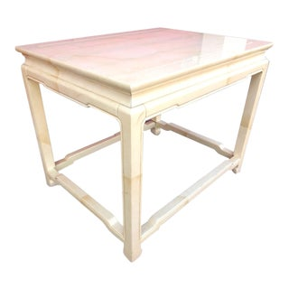 Henredon Post Modern Goatskin Finish Table For Sale