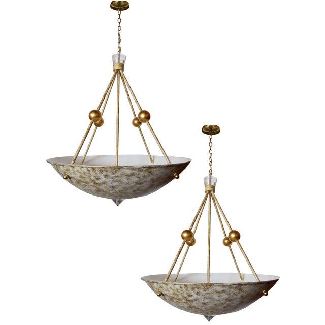 Decorative Chandeliers - a Pair For Sale