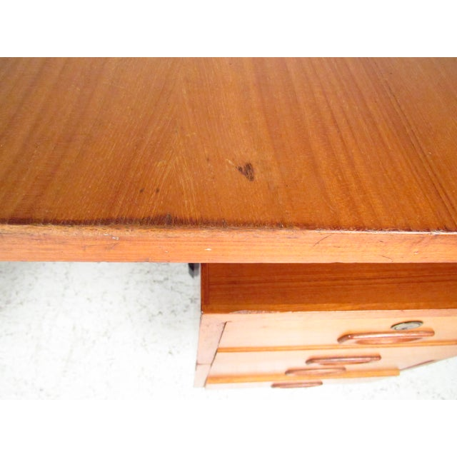 Mid-Century Teak Floating Top Desk - Image 8 of 11