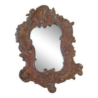 19th Century Swedish Bronze Metal Mirror