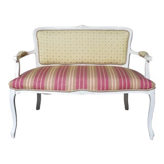 1960's French Louis XVI Loveseat Settee For Sale