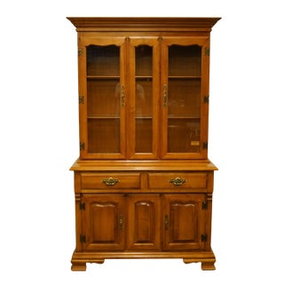 Tell City Solid Hard Rock Maple Colonial Style China Cabinet For Sale