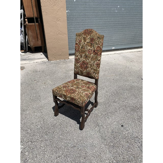 1900s Vintage French Louis XIII Style Os De Mouton Dining Chair For Sale - Image 11 of 13