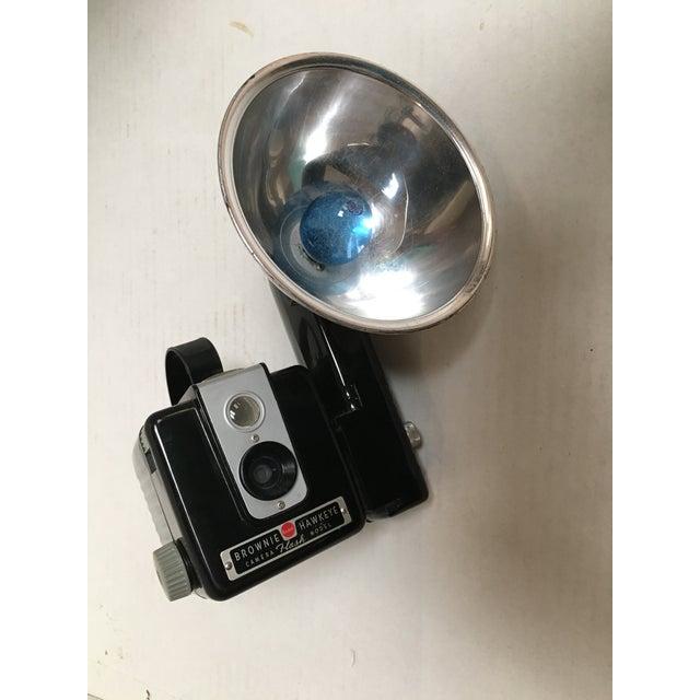 Black Kodak Hawkeye Brownie Camera With Flash For Sale - Image 8 of 10