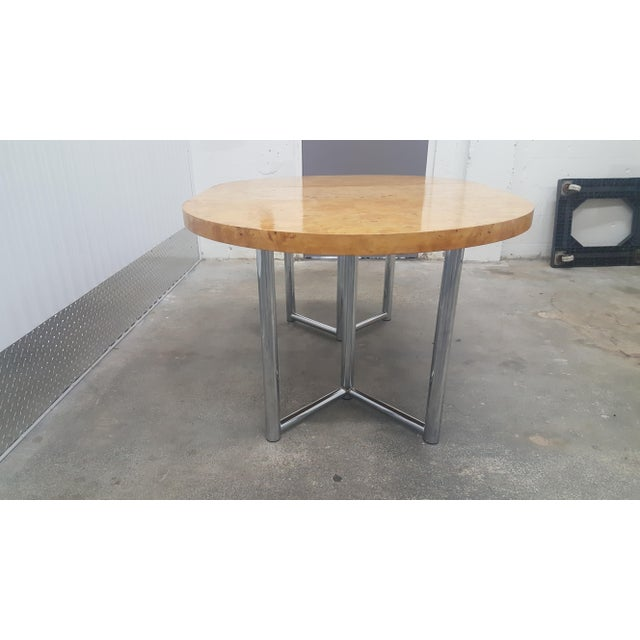 1970s Mid-Century Modern Milo Baughman Dinner Table . For Sale - Image 5 of 13