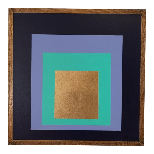 Original Framed Modern Painting by Tony Curry Homage to the Square For Sale