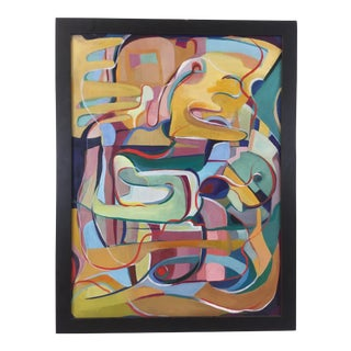 Framed Abstract on Canvas For Sale