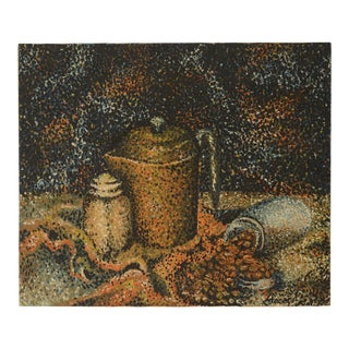 1960s Pointillist Still Life Painting For Sale
