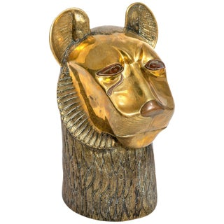 Bronze Head of a Lion For Sale