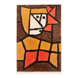 "1958 Paul Klee ""Woman in Native Costume"" Lithograph For Sale"
