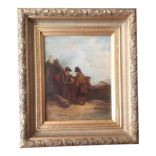 """Mid 19th Century """"What's Elsie Worth?"""" British School Oil Painting, Framed For Sale"""