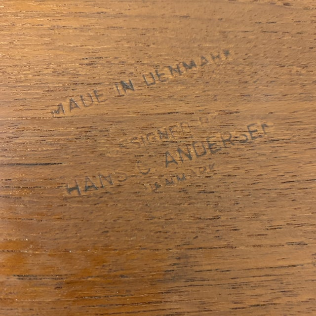 1960s Hans Andersen Teak Table For Sale In Richmond - Image 6 of 10