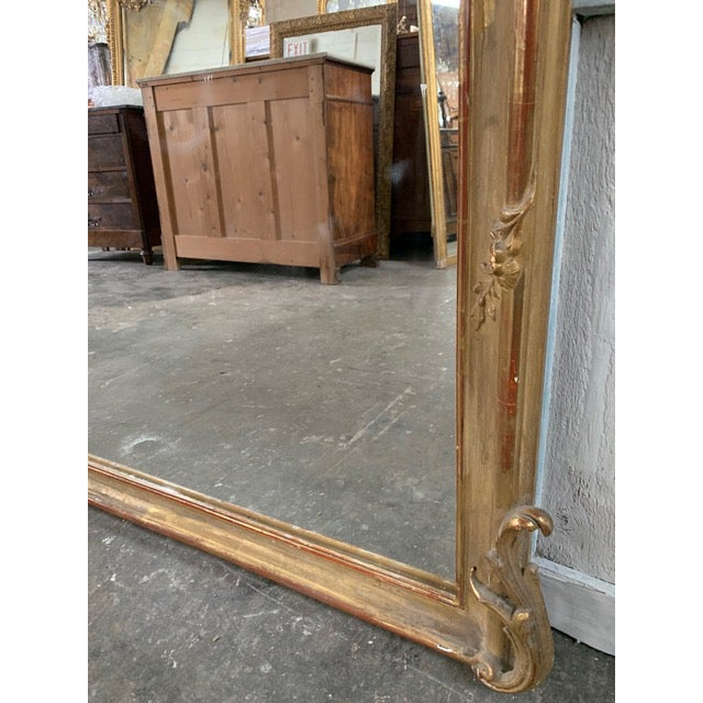 Gold 18th Century Original Grand Louis Philippe Style Mirror For Sale - Image 8 of 10