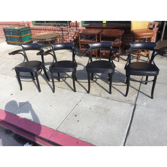 4 Restortation Hardware Dining Chairs Vienna Cafe For Sale In San Francisco - Image 6 of 6