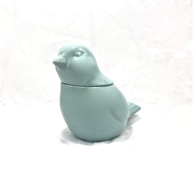 Children's Ceramic Bird Cookie Jar For Sale - Image 3 of 5