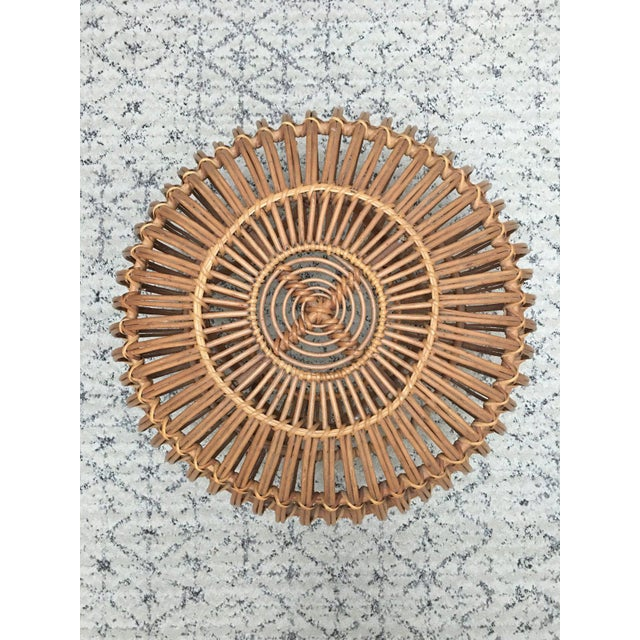 Franco Albini Rattan Wicker Woven Ottoman - Image 2 of 10