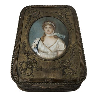 Early 19th Century Antique French Jewelry Box For Sale