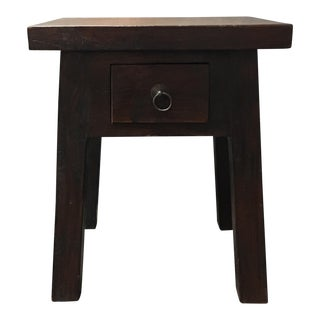 Handcafted Rustic Wood Side Table