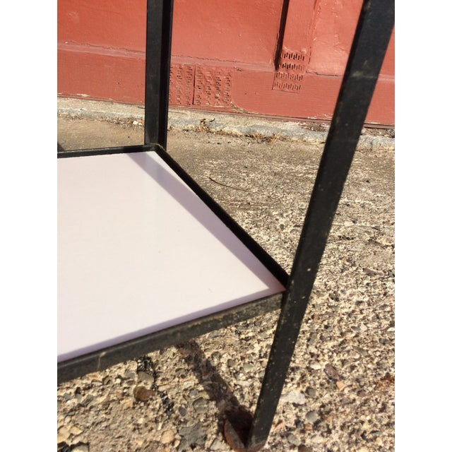 Metal Frederick Weinberg Style Wrought Iron Masonite Bookcase For Sale - Image 7 of 9