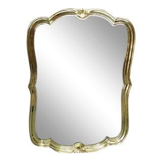 Italian Brass Wall Mirror For Sale