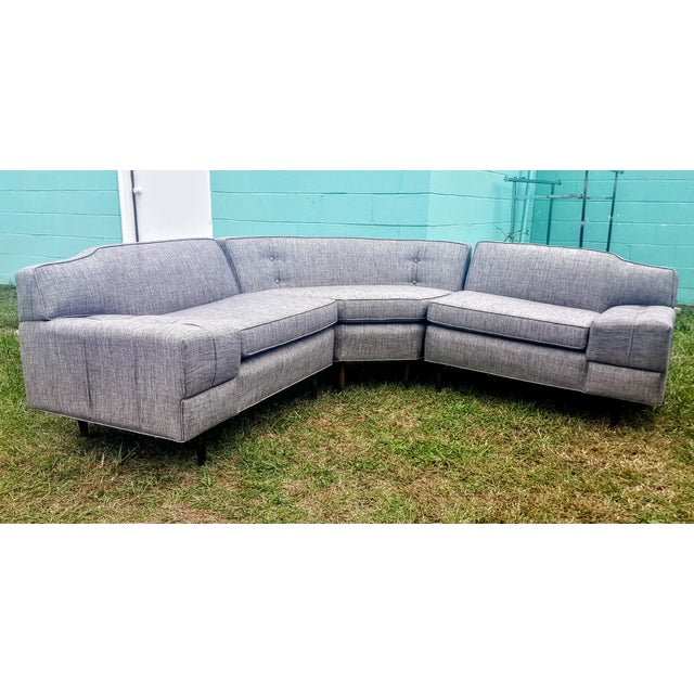 Mid-Century Modern Gray Sectional Sofa - Image 8 of 8