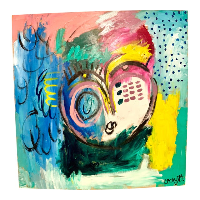 Ebony Boyd Large Abstract Face Painting