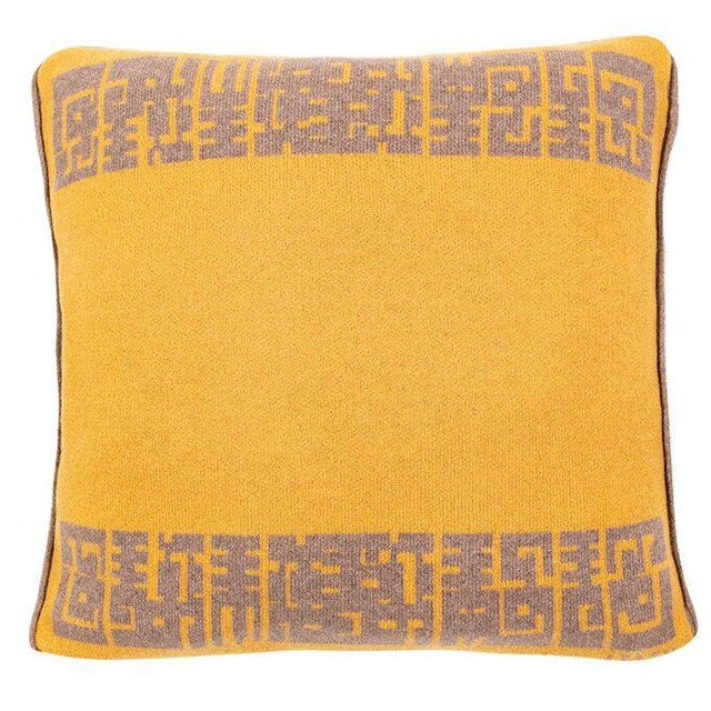 Contemporary Contemporary Maison Leleu Azteque Mustard Pillow For Sale - Image 3 of 3