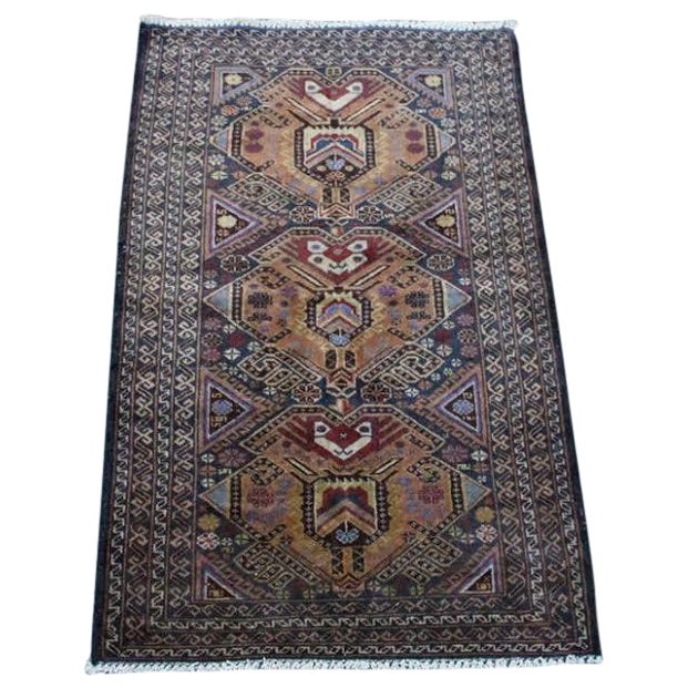 """Vintage Persian Balouch Rug - 2'9"""" X 4'5"""" - Image 1 of 9"""