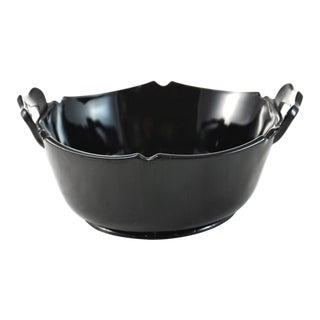 Black Glass Handled Catchall