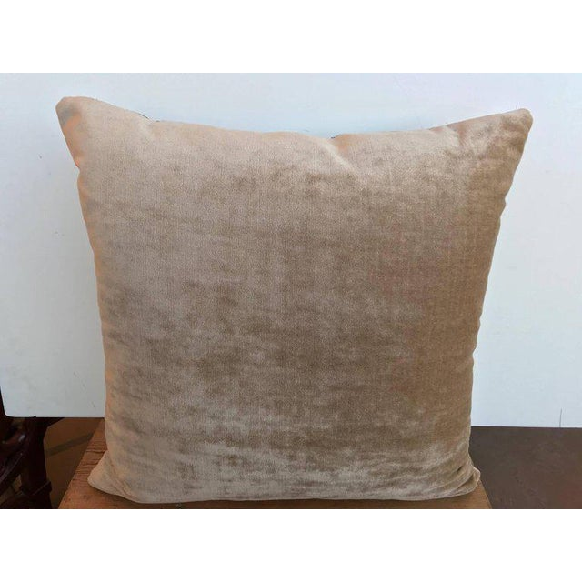 Traditional 17th Century Tapestry Fragment Pillow For Sale - Image 3 of 5