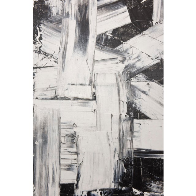 Renato Freitas Original Oil on Canvas, 2015, Black and White Two For Sale - Image 5 of 6