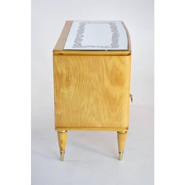 Mid 20th Century Italian Mid-Century Maple Wood Nightstands - a Pair For Sale - Image 10 of 13