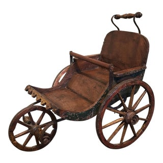 Antique Children's Wooden Stroller/Pram 18th Century American