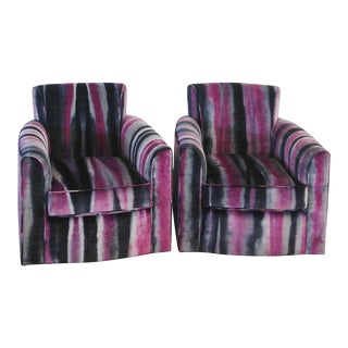 Accent Club Chairs - A Pair For Sale