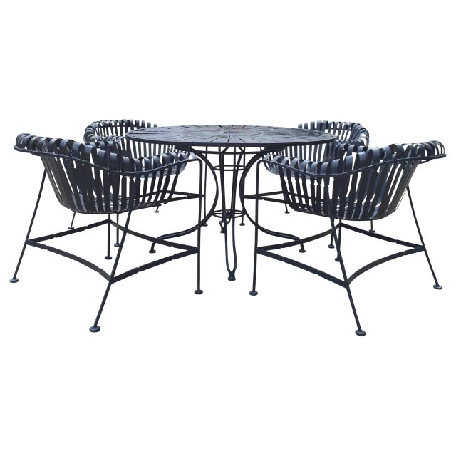 Mid-Century Outdoor Patio Set - Set of 5 For Sale - Image 9 of 9