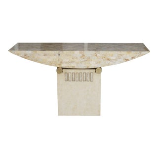 Geometric Postmodern Console Table For Sale