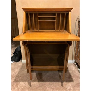 Vintage Indonesian Hand Carved Teak Wood Secretary Desk Preview