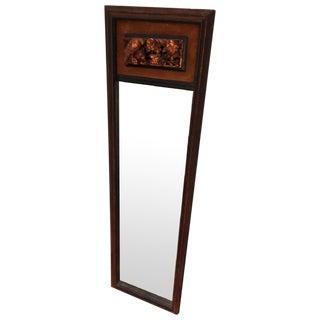 Antique Wood and Gold/Bronze Framed Floor Mirror